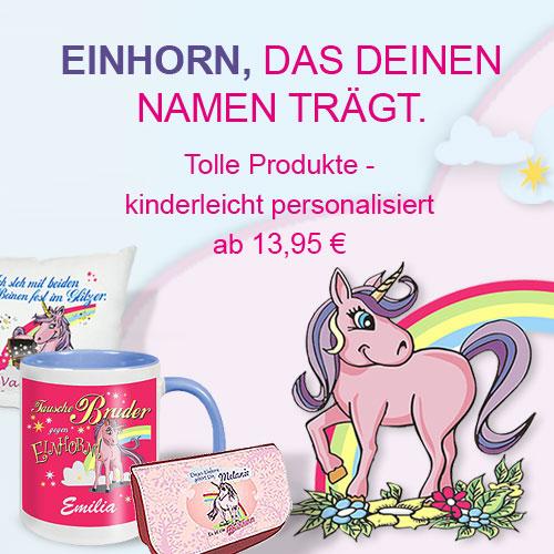 personalisierte Einhorn Geschenke
