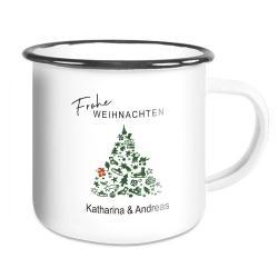 Geschenk Tasse mit Weihnachtsmotiv Verbotsschild und lustiger Spruch Ich Hasse Weihnachten