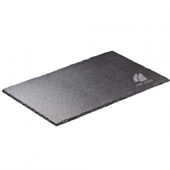 Schiefertafel / Schieferplatte mit Logo graviert / bedrucken 150 x 200 mm