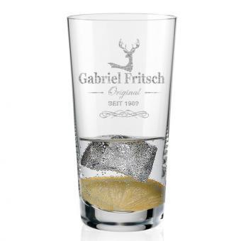 Longdrink Glas mit Namen