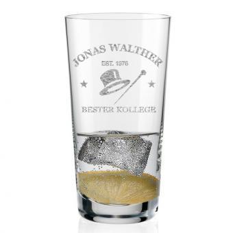 Longdrink Glas mit Personalisierung