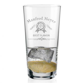 Longdrink Glas mit eigenem Namen graviert