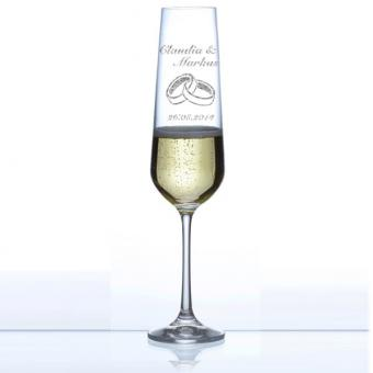 Sektglas zur Hochzeit