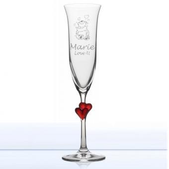 Sektglas mit Gravur - Liebhabär