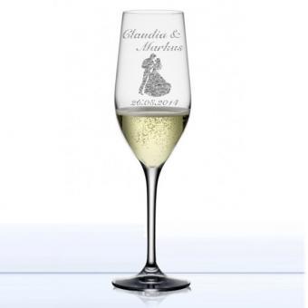 Sektglas gestalten classic - Liebe