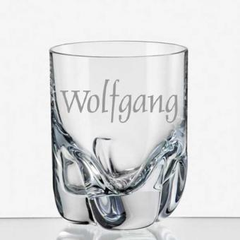 Schnapsglas mit eigenem Namen graviert