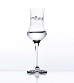 Grappaglas mit Namen