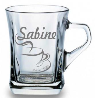 Personalisierte Kaffeetasse mit Gravur
