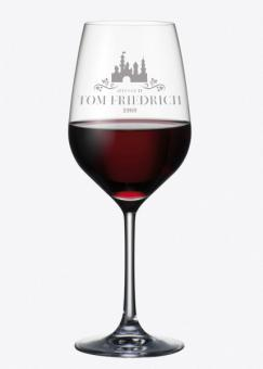graviertes Weinglas Chateau mit Namen