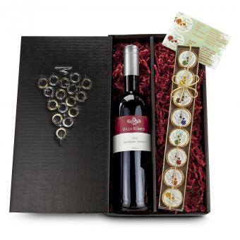 Schokolade und Wein Geschenkset