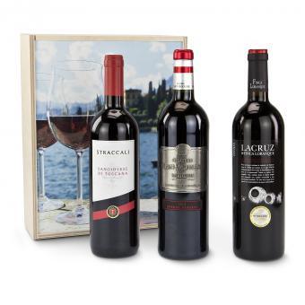 Weinflasche Château Frottee Bordeaux Geschenk Set