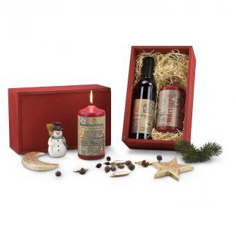 Weihnachtsbox Wortlicht Geschenk Set