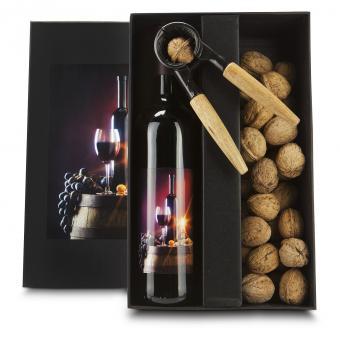 Wein und Nüsse Geschenkset