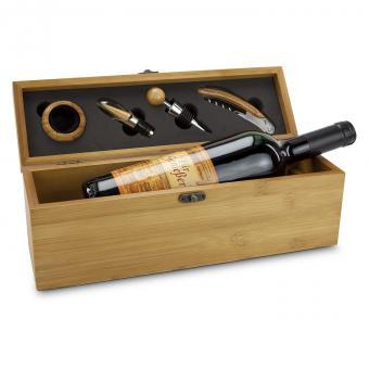 Geschenkset Wein in Bambus Kiste