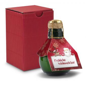 Kleinste Sektflasche: Weihnachten als Geschenk
