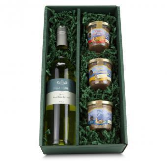 Pasteten und Wein Variationen im Geschenkset