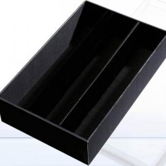 Weinkassette, Geschenkkassette 3er schwarz im Spar Set