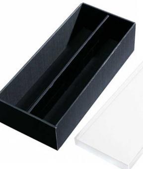 Weinkassette, Geschenkkassette 2er schwarz im Spar Set