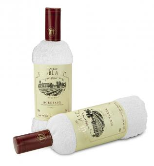 Weingeschenk in Handtuchform