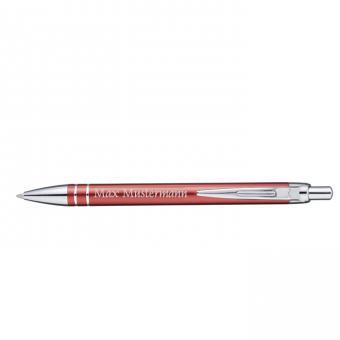 MADRID Kugelschreiber - rot - mit Gravur