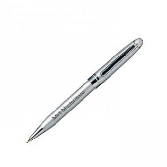 BRISTOL Kugelschreiber - silberfarben - mit Gravur