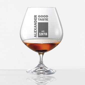 Cognacschwenker / Cognacglas individuell graviert