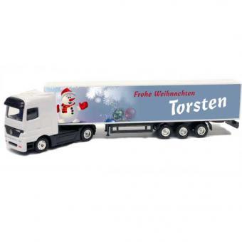 Mini-Truck mit Namen zu Weihnachten