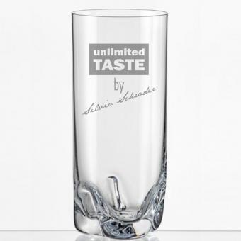 Saftglas mit Namens-Gravur