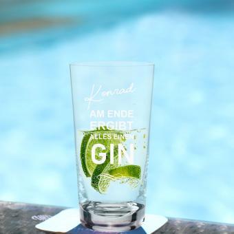 GIN Tonic Glas mit Ihrem Namen