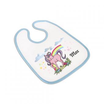 Einhorn-Babylätzchen für Jungs