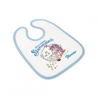 Einhorn Baby Lätzchen für Jungs - personalisierbar
