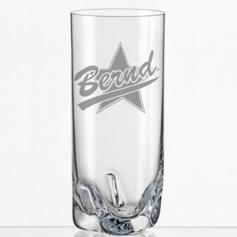 Trink Glas mit Namen graviert