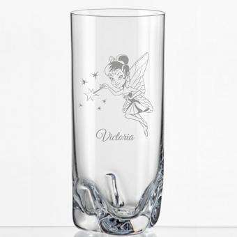 Saftglas mit Feenmotiv und Namen personalisiert
