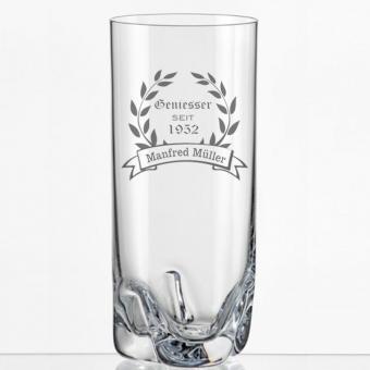 Saftglas mit Gravur Geniesser