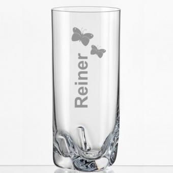 Saftglas mit Namen graviert
