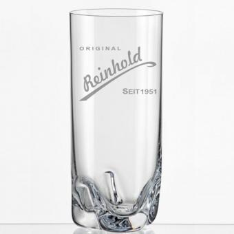 Saftglas mit Gravur Reinhold