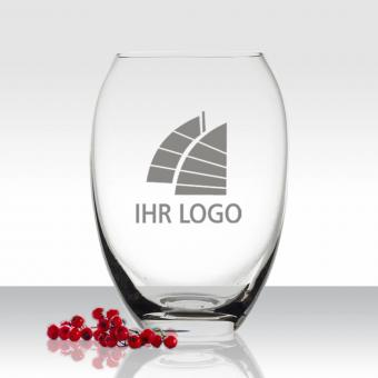 Blumen Vase mit Logo gravieren