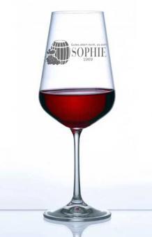 Weinglas mit Gravur Rotwein MyWine