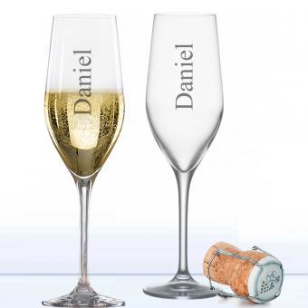 personalisiertes Sektglas