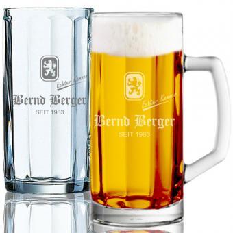Bierseidel mit Gravur 0,5l Bernd Berger