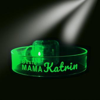 Laserarmband mit Namen für die beste Mama