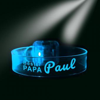Laserarmband mit Namen für den besten Papa