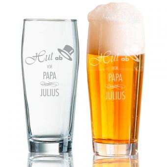 Bierglas mit persönlicher Gravur