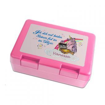 Lunchbox mit Namen Einhorn
