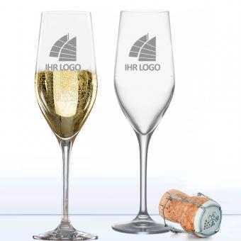 Sektglas mit Logo