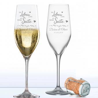 Champagnergläser mit Ihren Namen graviert