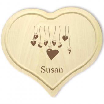 Herz Schneidebrett aus Holz für Verliebte