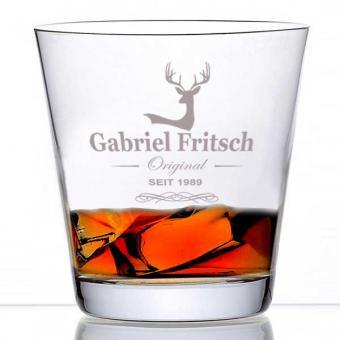 Whiskyglas mit Namen graviert
