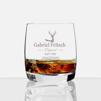 Whisky Glas mit Namen