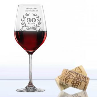 Weinglas zum Geburtstag Rotwein mit Namen